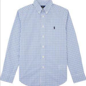 Boys Polo Ralph Lauren Dress shirt check Blue/wht
